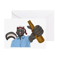 Drunk as a Skunk Greeting Card