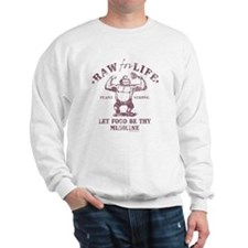 Raw for Life burgandy Sweatshirt