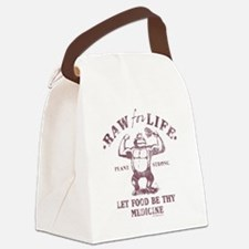 Raw for Life burgandy Canvas Lunch Bag