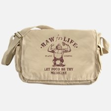 Raw for Life burgandy Messenger Bag