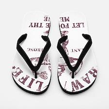 Raw for Life burgandy Flip Flops