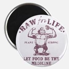 Raw for Life burgandy Magnet