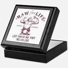 Raw for Life burgandy Keepsake Box