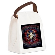 American Firefighter Hitch Canvas Lunch Bag