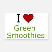 I Love Green Smoothies Rectangle Car Magnet