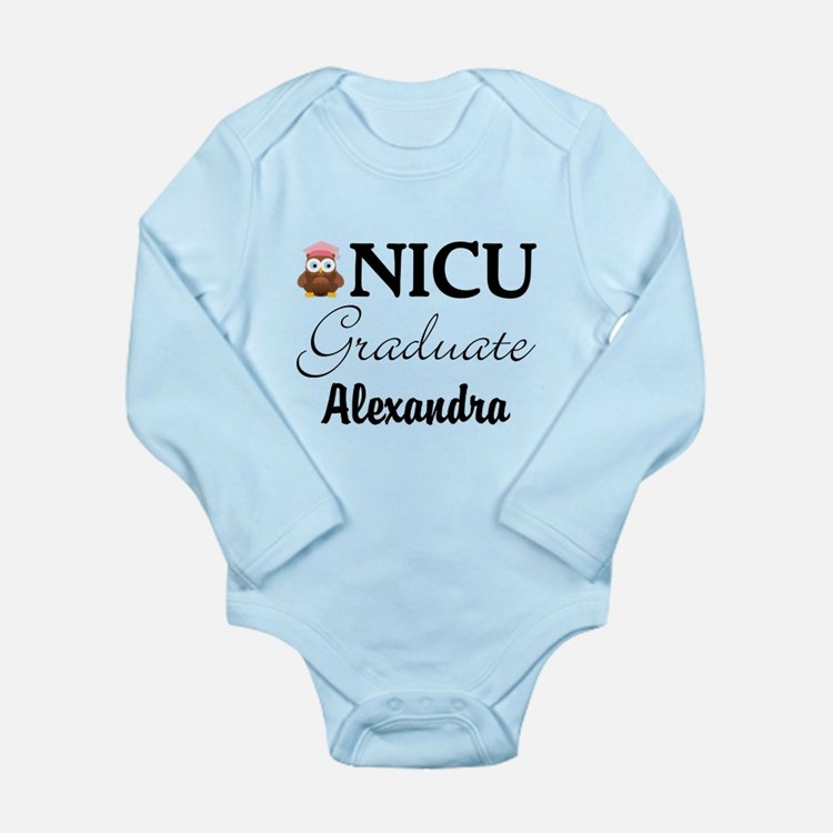 Personalized NICU Graduate Baby Girl Body Suit