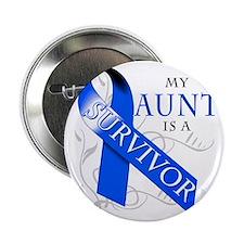 """My Aunt is a Survivor (blue) 2.25"""" Button"""