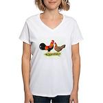 Leghorns Women's V-Neck T-Shirt