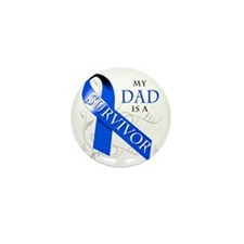 My Dad is a Survivor (blue) Mini Button