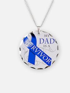 My Dad is a Survivor (blue) Necklace