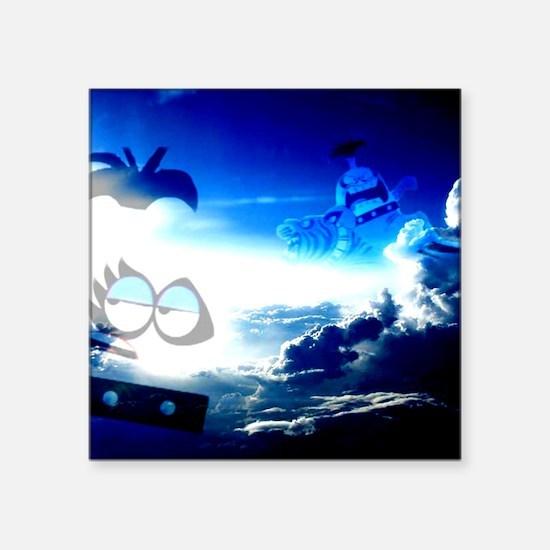 "Bloo Skies Square Sticker 3"" x 3"""