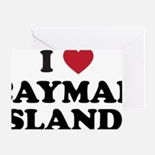 I Love Cayman Islands Greeting Card