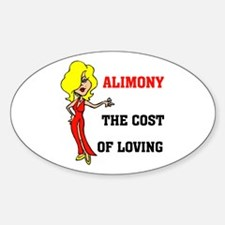 ALIMONY Oval Decal
