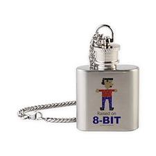 Raised on 8-Bit Flask Necklace