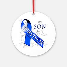 My Son is a Survivor Round Ornament