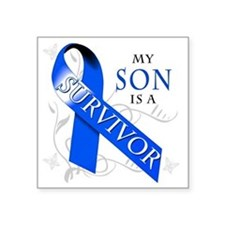 "My Son is a Survivor Square Sticker 3"" x 3"""
