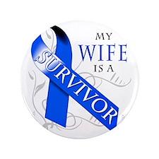 """My Wife is a Survivor 3.5"""" Button"""