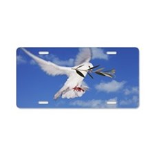 Dove with olive branch Aluminum License Plate