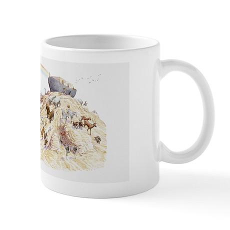 Illustration of Noah's ark with animals Mug