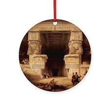 Dendera Temple Round Ornament