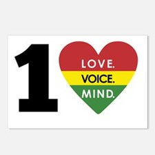 NEW-One-Love-voice-mind5 Postcards (Package of 8)
