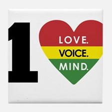 NEW-One-Love-voice-mind5 Tile Coaster