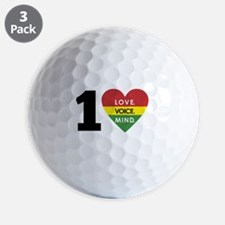 NEW-One-Love-voice-mind5 Golf Ball