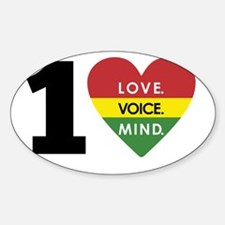 NEW-One-Love-voice-mind5 Decal