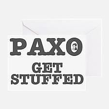 PAXO - GET STUFFED Greeting Card