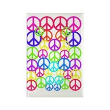 Peace Symbol FF 3 Rectangle Magnet