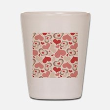 Hearts Shot Glass