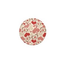 Hearts Mini Button