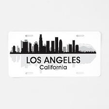 Los Angeles Skyline Aluminum License Plate
