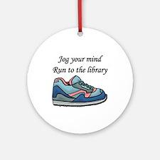 """Jog Your Mind"" Ornament (Round)"