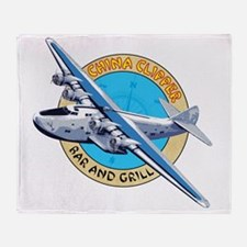 China Clipper Bar and Grill Throw Blanket