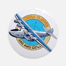 China Clipper Bar and Grill Round Ornament
