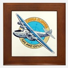 China Clipper Bar and Grill Framed Tile
