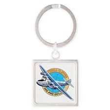 China Clipper Bar and Grill Square Keychain