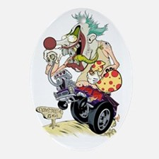 Killer Clown poster sized Oval Ornament