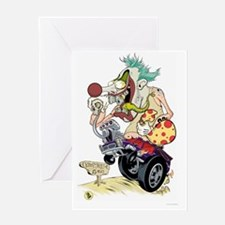 Killer Clown poster sized Greeting Card