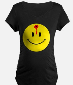 smiley face with bullet hol T-Shirt