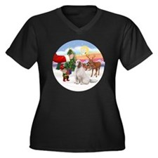 R-Treat-Clum Women's Plus Size Dark V-Neck T-Shirt