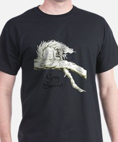 Graphic Gray Squirrel T-Shirt