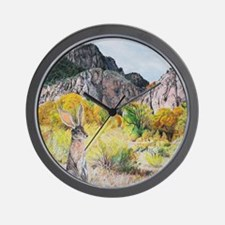 wild hare in Clear Creek Canyon Wall Clock