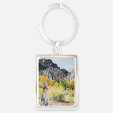 wild hare in Clear Creek Canyon Portrait Keychain