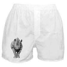 Black Rhino Throw Pillow Boxer Shorts