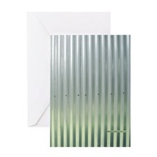Tin Industrial Chic Flip Flops Greeting Card