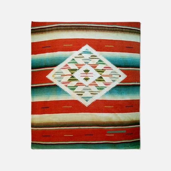 Mexican Serape Flip Flops Throw Blanket