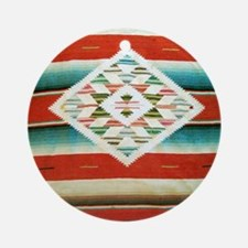 Mexican Serape Flip Flops Round Ornament