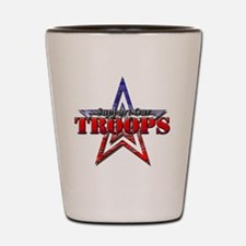Support Our Troops Shot Glass